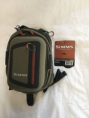 Simms Headwaters Chest Pack In Dark Elkhorn  Msrp  79 95