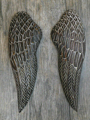 TWO, Angel Wings, Wall Art, Wooden, Rustic, Aged Wood, Wall Decor, Christian NEW