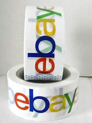 2 Rolls Ebay Branded Bopp Packaging Tape - 75 Yard Roll - Shipping Supplies New