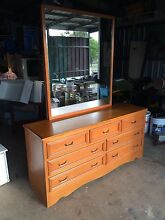 Solid dresser dressing table mirror drawers Meringandan West Toowoomba Surrounds Preview