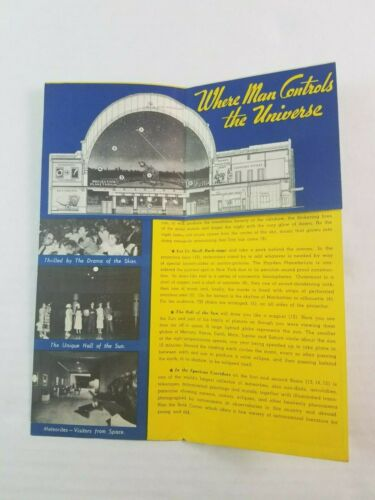 1937 Hayden Planetarium Advertising Pamphlet AD New York City NYC Astronomy