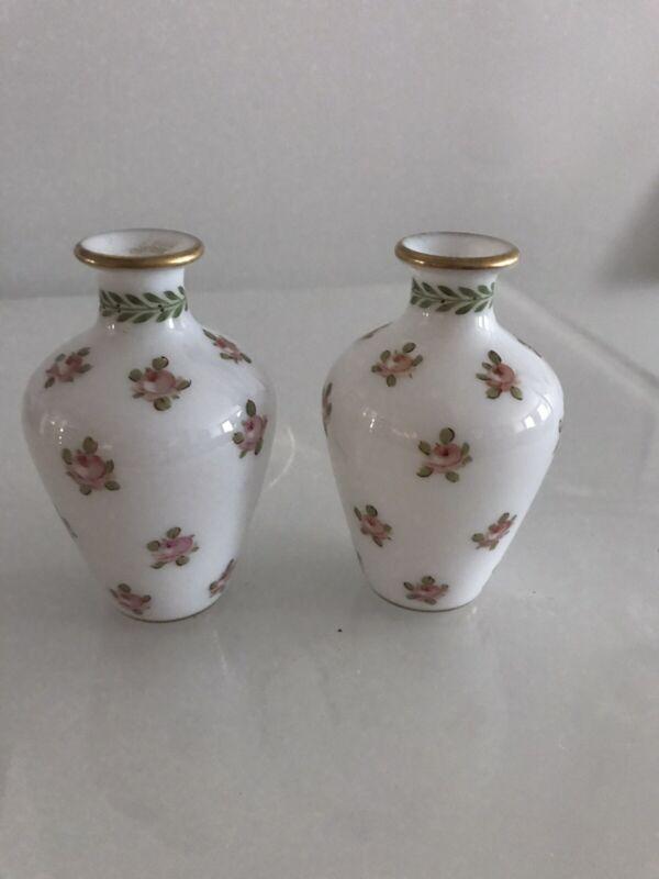 Pair Of Opaline Bud Vases