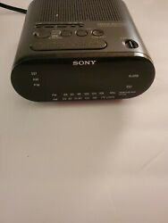 Sony Dream Machine ICF-C218 Auto Time Set Dual Alarm AM/FM Clock Radio Works!