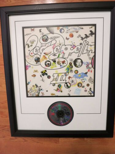 Led Zeppelin signed framed cd by 3 coa + Proof! Jimmy Page Robert Plant JPJ LP