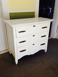 "Antique 3 Drawer Dresser, 37"" x 18.75"" x 33.5"". Price is Firm"