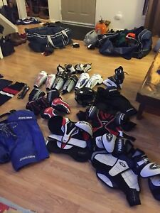 Hockey equipment for sale mostly youth sizes
