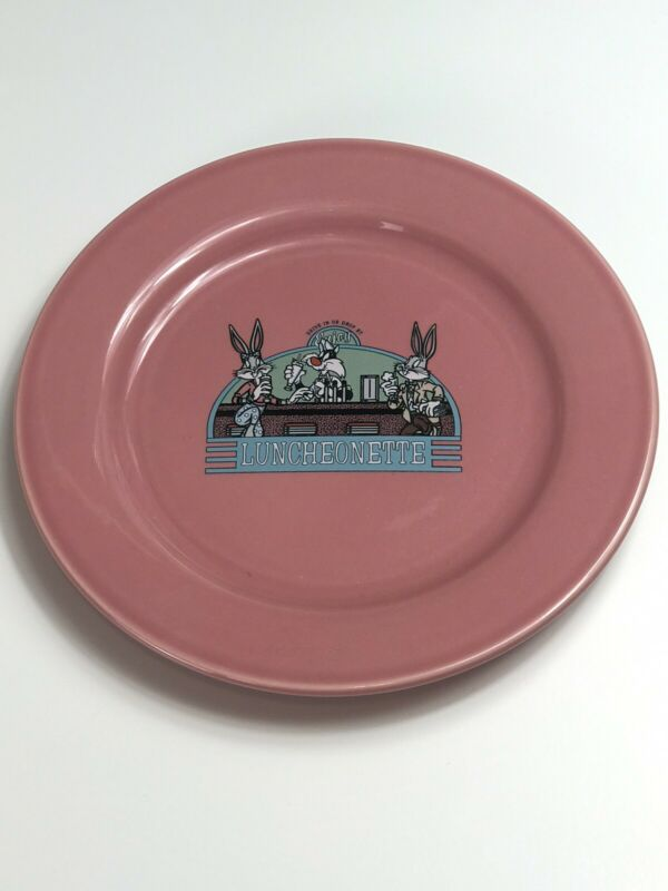 NEW 1994 Homer Laughlin China Warner Bros Luncheonette Dinner Plate Bugs Bunny