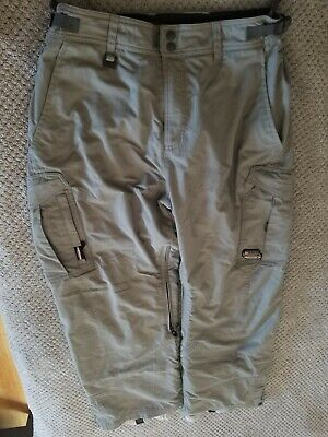 QUICKSILVER Grey Silver SKI SNOWBOARD PANTS MEN'S SIZE Medium