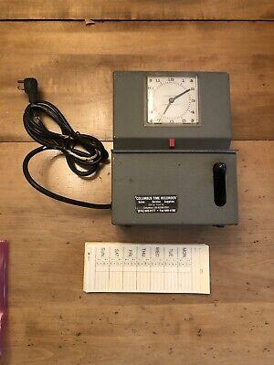 Lathem Model 2101 Heavy Duty Time Clock Recorder With Keys Needs Ink Ribbon