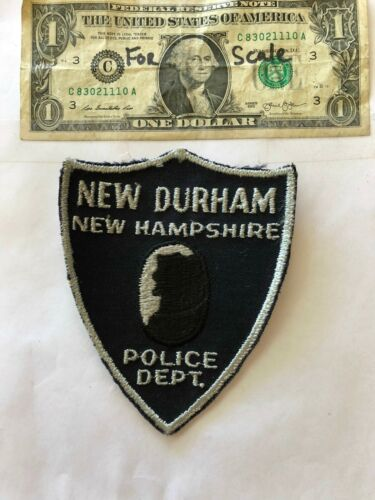 Rare New Durham New Hampshire Police Patch pre-sewn in good shape