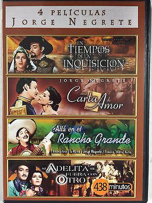Jorge Negrete, 4 Movies, Cuatros Peliculas, DVD, 2 Discs, New, Factory Sealed