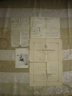 World War 1 WW1 Italian Army Soldier Service Records Documents Photo Passport?