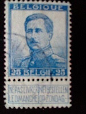 STAMPS - TIMBRE - POSTZEGELS - BELGIQUE - BELGIE 1912  NR. 125 (ref. 1127)