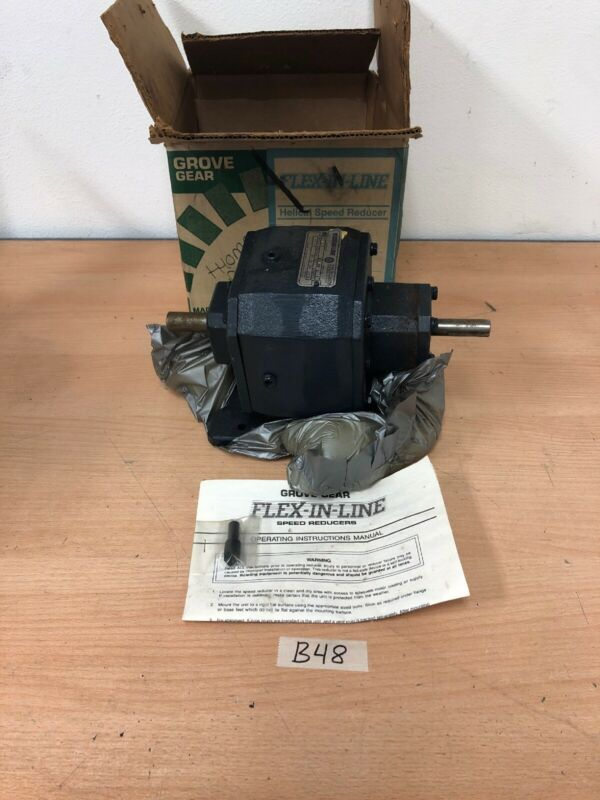 Grove Gear FLEXALINE Worm Speed Reducer 20:1 Gear Reducer BA12-A *Fast Shipping*