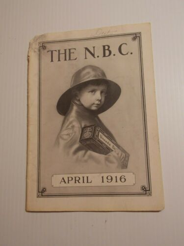 The N.B.C. April 1916 National Biscuit Company Nabisco Book