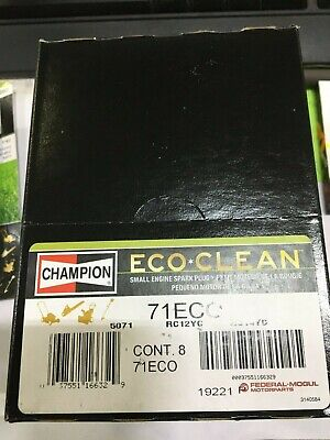 8 PACK (8) Champion Spark Plug ECO CLEAN 71ECO / RC12YC / RC14YC THATS RIGHT 8!