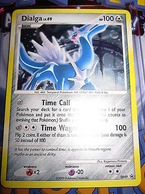 (POKEMON NEUF PROMO DIALGA DP49 NINTENDO HOLO FOIL CARD MINT DIAMOND & PEARL)