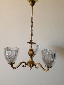 Gold deco vintage ceiling light Chatswood Willoughby Area Preview