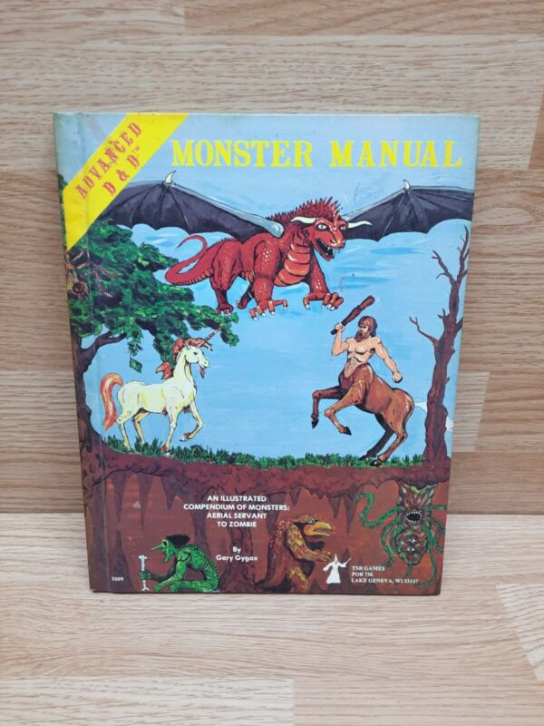 Advanced Dungeons & Dragons Monster Manual Book 4th Edition D&D