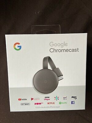 GOOGLE Chromecast - Third Generation, Charcoal - Currys