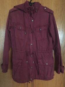 Aritzia Talula LE Burgundy Trooper Jacket Size Medium