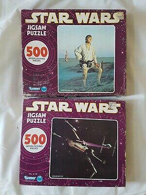 Star Wars Vintage Jigsaw Puzzles x 2  - Farmboy & X-Wing/TIE Fighter