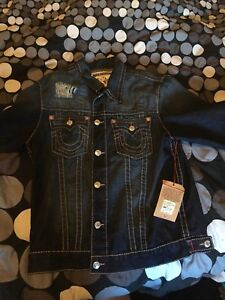 True religion denim jean jacket fits like large