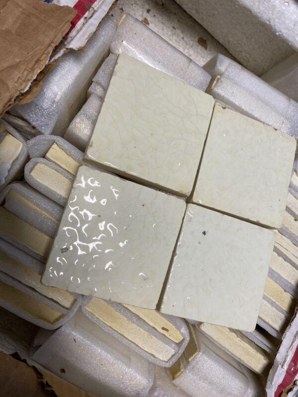 """50 Antique Art Tiles c 1900 Victorian Trent Trenton NJ ceramic  3"""" arts + crafts"""