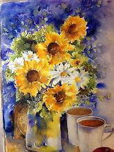 MOTHER'S DAY GIFT HANDPAINTED  FLOWER PAINTINGS THAT LAST FOREVER Epping Ryde Area Preview