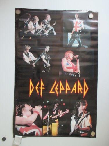 VINTAGE DEF LEPPARD PYRO TOUR POSTER 1983 ORIGINAL NOT REPRO 23X35 NOS