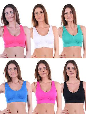 Damen Sport BH Top, - Light-Impact, Push-Up-BH Bustier Bra, 010-300512 (Light Up Bekleidung)