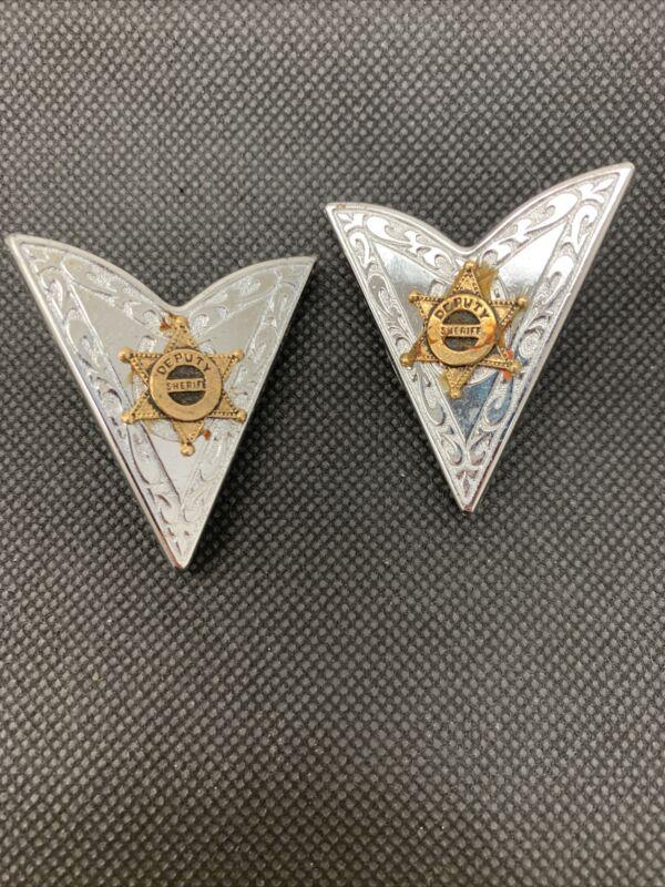 Deputy Sherriff Traingle Collar Pins
