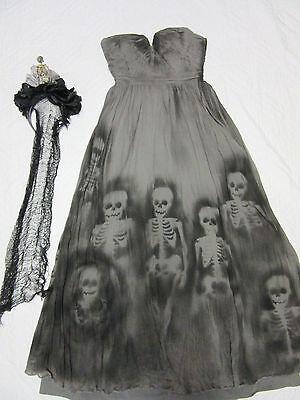Day of the Dead dress COSTUME size 0 dia de los muertos unique OOAK - Uniques Halloween Costumes