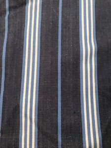 Blue striped curtains