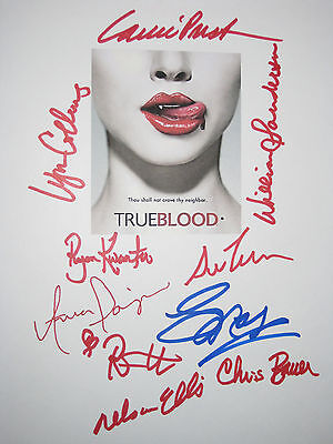 True Blood Signed TV Script X10 Anna Paquin Stephen Moyer Sam Trammel reprint