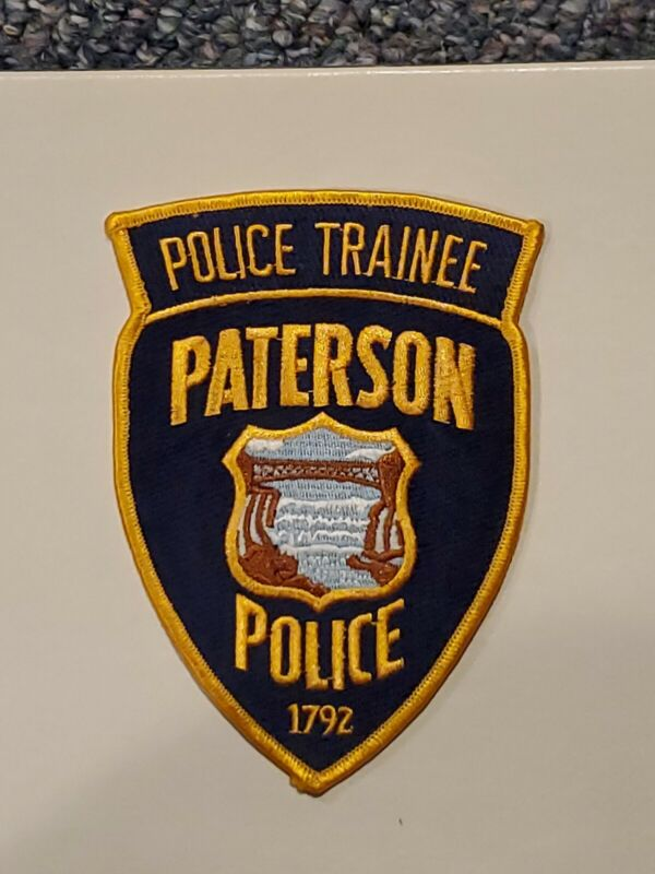 Paterson Police Patch Police Trainee New Jersey RARE