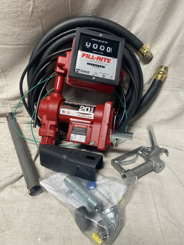 Fill-Rite FR4211HL 1/4 HP Cast Iron Rotary Vane Fuel Transfer Pump 20 GPM 12VDC
