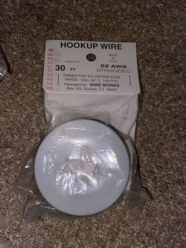Hookup Wire 2 Conductor 30 FT 22 AWG Stranded B222070305