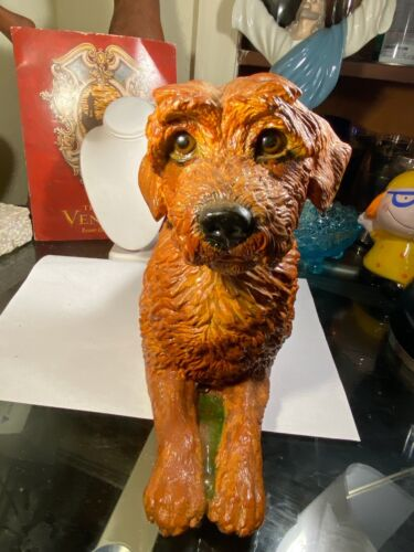 Border Terrier or Irish Terrier Red Dog Figurine Large Size Resin