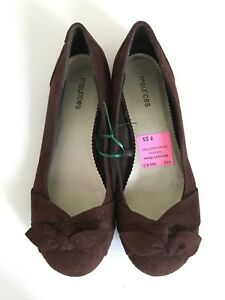 Faux-Suede brown flats by maurices