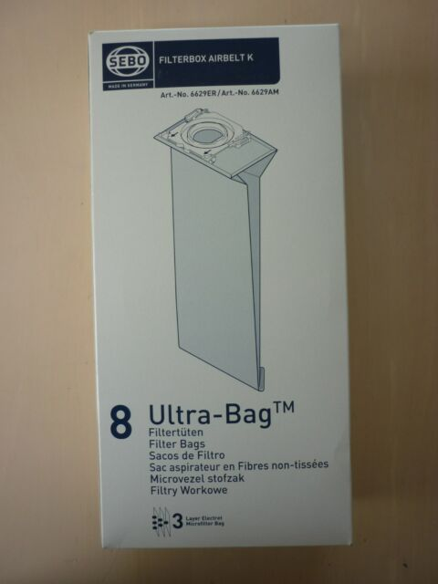 Genuine Sebo Airbelt K vacuum cleaner bags- 6629ER