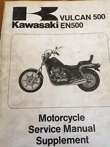 1990 Kawasaki Vulcan 500 EN500 Service Manual Supplement