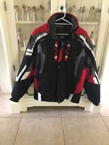 Men's size extra large spyder snow jacket cost $400