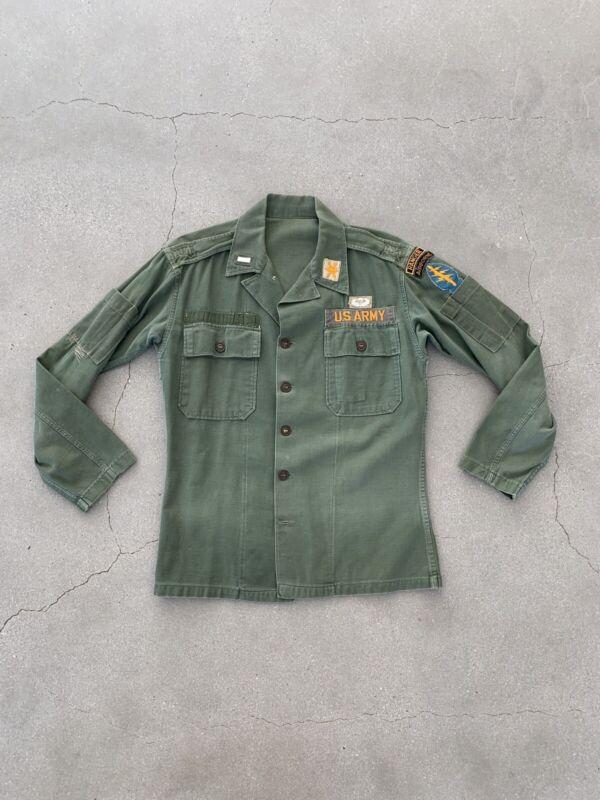 Original US ARMY SPECIAL Forces Ranger Airborne Fatigue Shirt Custom Tailored
