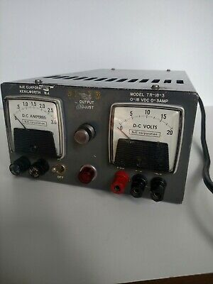 Nje Tr-18-3 Solid State Transistorized Regulated Power Supply Used