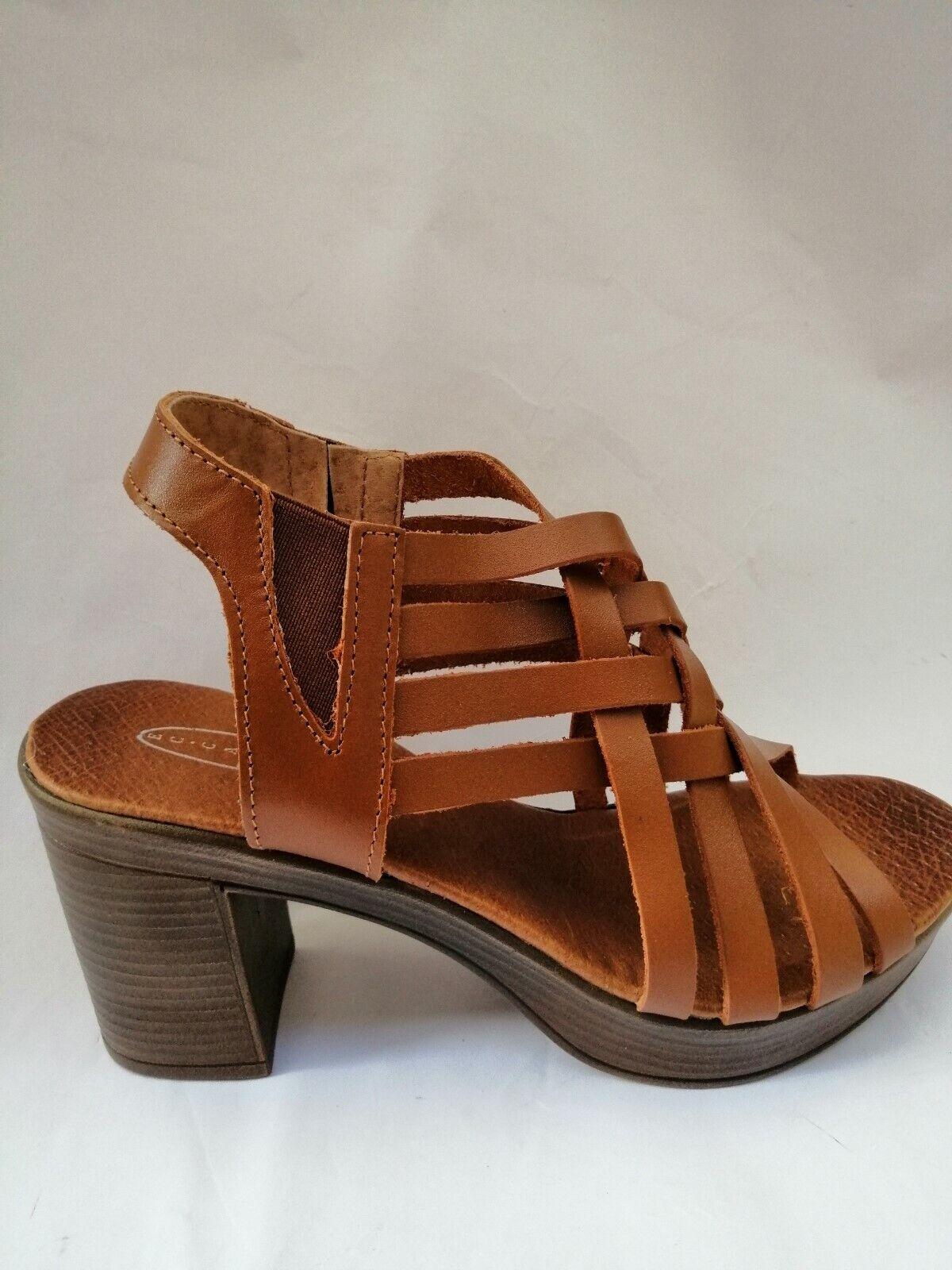 Sandalen Frauen Sandaletten Leder Brown Schuhe Mode Frühling Sommer Neu
