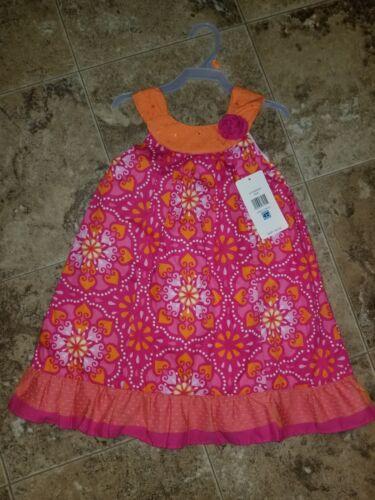 New Girls Penelope Mack Dress Sleeveless Sundress Pink Orange 18M 18 Months