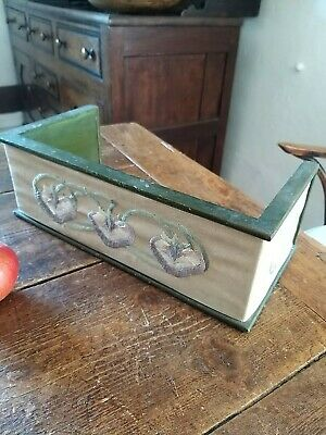 A Nice Vintage Tapestry Linen Front Bookstand desk top tidy