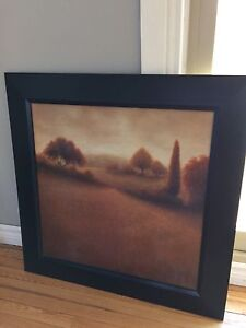 Large scenic framed canvas