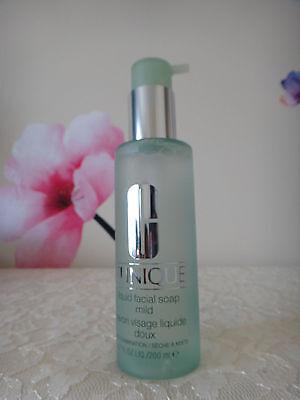 Clinique Liquid Facial Soap Mild Dry Combination 6.7 oz /200ml NEW & FRESH Clinique Liquid Facial Soap Mild